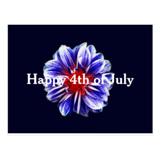 4to feliz de la postal de la flor de julio