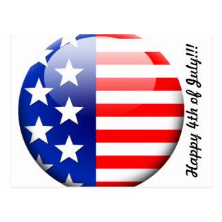 4to feliz de la postal del americano de julio