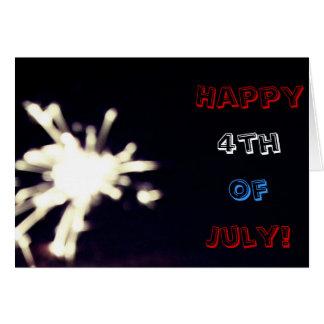 ¡4to feliz de la tarjeta de felicitación de julio!