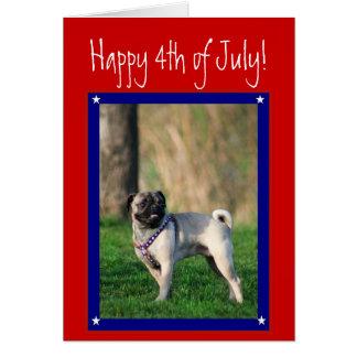 4to feliz de la tarjeta de felicitación patriótica