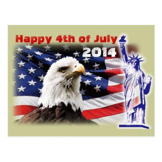 4to feliz del Día de la Independencia 2014 de Postal