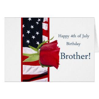 4to feliz del hermano subió cumpleaños de julio tarjeta de felicitación