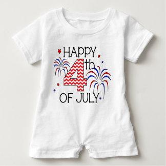4to feliz del mameluco del niño de julio