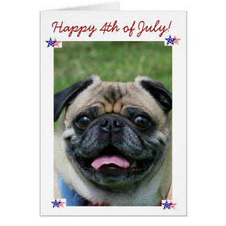 4to feliz del perro del barro amasado de julio tarjeta
