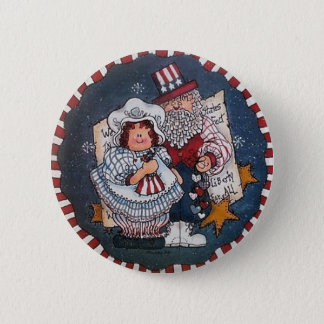 4to feliz del Pin del botón de julio