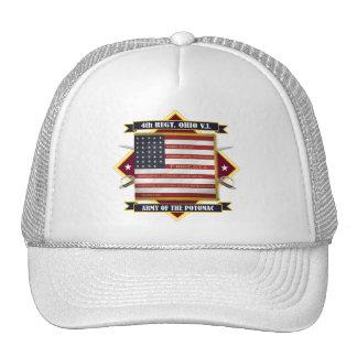 4to Infantería voluntaria de Ohio Gorras De Camionero