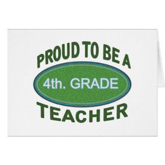 4to orgulloso Profesor del grado Felicitaciones