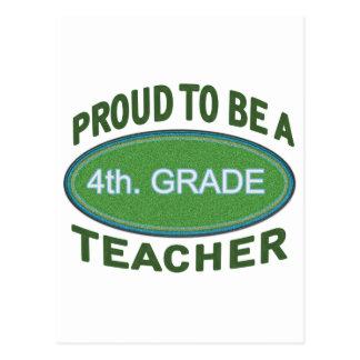 4to orgulloso Profesor del grado Postal