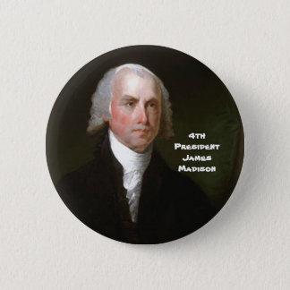 4to Pres. James Madison Chapa Redonda De 5 Cm