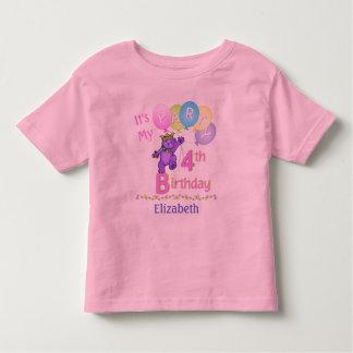 4to Princesa Bear de la chica marchosa del Camiseta De Bebé