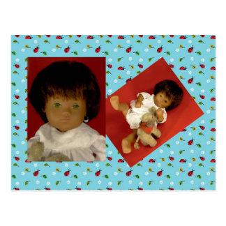501-4 Sasha bebé Girl Nightdress tarjeta postal