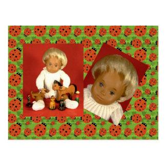 502 4 bebé bebé Woolly tarjeta postal