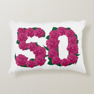 50.a almohada del acento del aniversario de boda