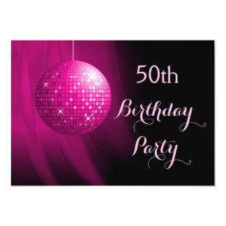 50.a bola de discoteca atractiva del fiesta de las invitación 12,7 x 17,8 cm