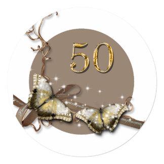 50.a caída rústica del cumpleaños el | de la mujer invitación 13,3 cm x 13,3cm