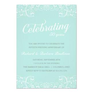 50.a fiesta de aniversario elegante del boda invitación 12,7 x 17,8 cm