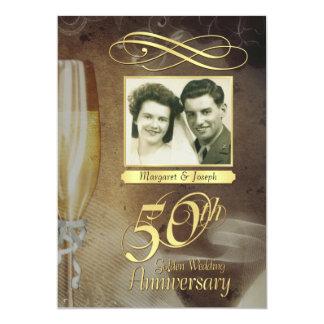 50.a fiesta de aniversario - invitaciones formales invitación 12,7 x 17,8 cm