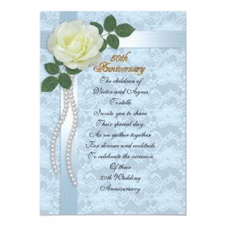 50.a fiesta de aniversario para el cordón azul de invitación 12,7 x 17,8 cm