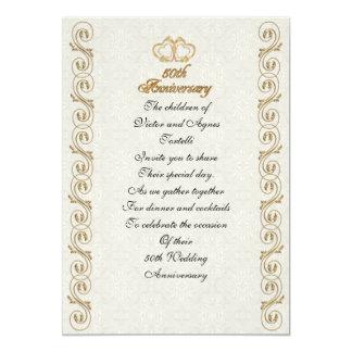 50.a fiesta de aniversario para los padres invitación 12,7 x 17,8 cm