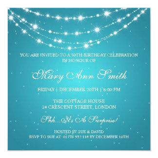 50.a fiesta de cumpleaños de las mujeres Turquois Invitación 13,3 Cm X 13,3cm