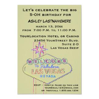 50.a fiesta de cumpleaños de Las Vegas Comunicados Personalizados
