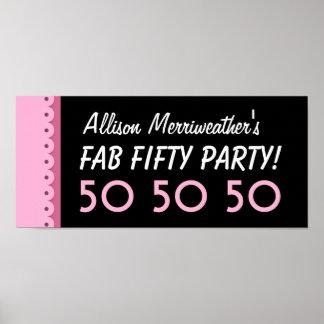50.a fiesta de cumpleaños del personalizado o impresiones