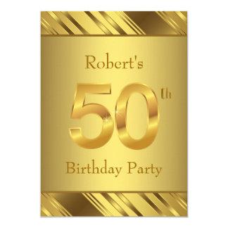 50.a fiesta de cumpleaños para hombre invitación 12,7 x 17,8 cm