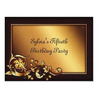 50.a fiesta del cumpleaños de la mujer elegante invitación 13,9 x 19,0 cm