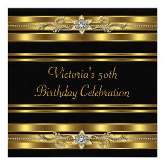 50.a fiesta del cumpleaños de la mujer negra del o comunicado personalizado