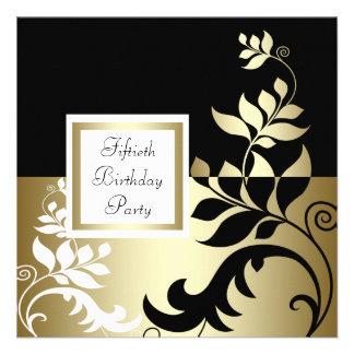 50 a fiesta del cumpleaños de la mujer negra del o invitaciones personalizada