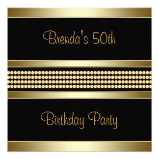 50.a fiesta del cumpleaños de la mujer negra elega invitaciones personales