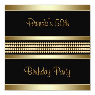 50.a fiesta del cumpleaños de la mujer negra invitaciones personales