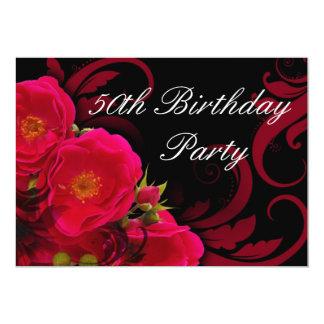 50.a fiesta del cumpleaños de las mujeres subiós invitación 12,7 x 17,8 cm