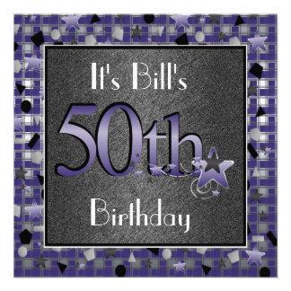 50 a fiesta del cumpleaños de los HOMBRES Invitati