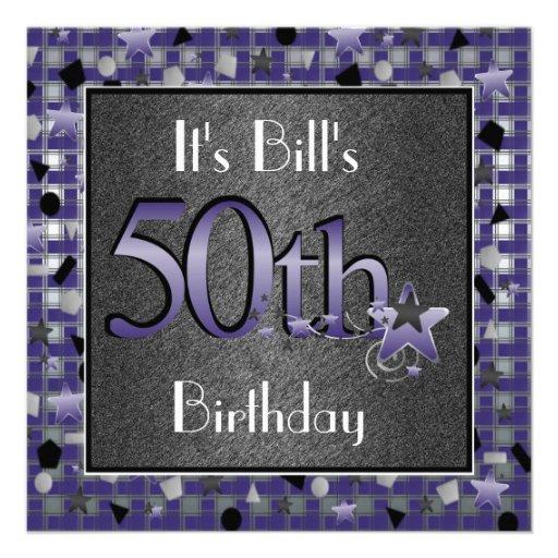 50.a fiesta del cumpleaños de los HOMBRES Invitati Comunicados