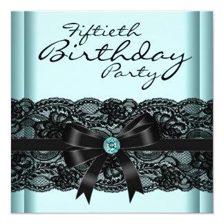 50.a fiesta del cumpleaños del cordón de la mujer comunicados personalizados