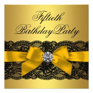 50.a fiesta del cumpleaños del cordón de la mujer  invitacion personal