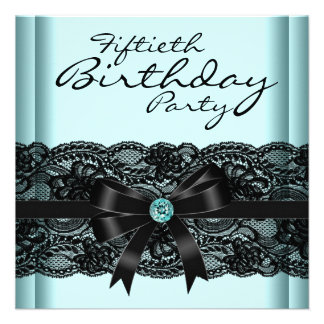 50 a fiesta del cumpleaños del cordón de la mujer comunicados personalizados
