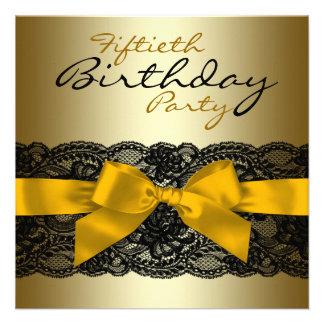 50.a fiesta del cumpleaños del cordón de la mujer  invitacion personalizada