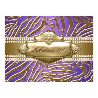 50.a fiesta del cumpleaños del oro de la mujer invitación 16,5 x 22,2 cm