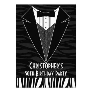 50.a invitación de la fiesta del cumpleaños de los