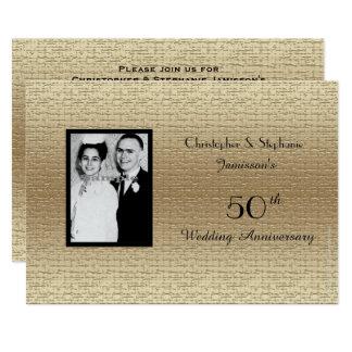 50.a invitación de lujo de la foto del aniversario