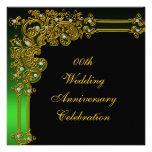 50.a invitación de oro de la fiesta de aniversario
