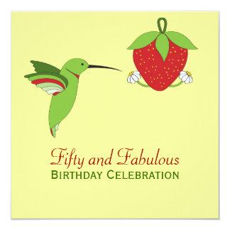 50.a invitación del cumpleaños de los colibríes