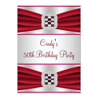 50.a invitación del cumpleaños del diamante rojo