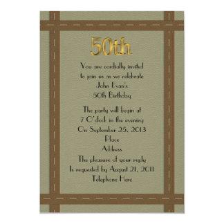 50.a invitación del cumpleaños para el hombre