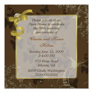 50.a invitación elegante del aniversario de boda