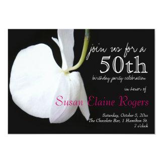 50.a invitación floral del cumpleaños 2