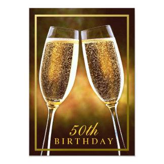 50.a invitación formal del cumpleaños