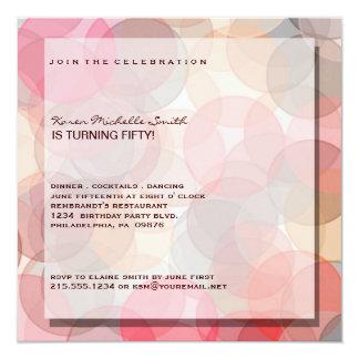 50.a invitación moderna minimalista de la fiesta invitación 13,3 cm x 13,3cm